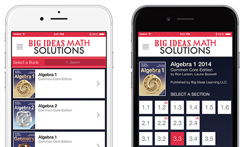 Big Ideas Math - Apps