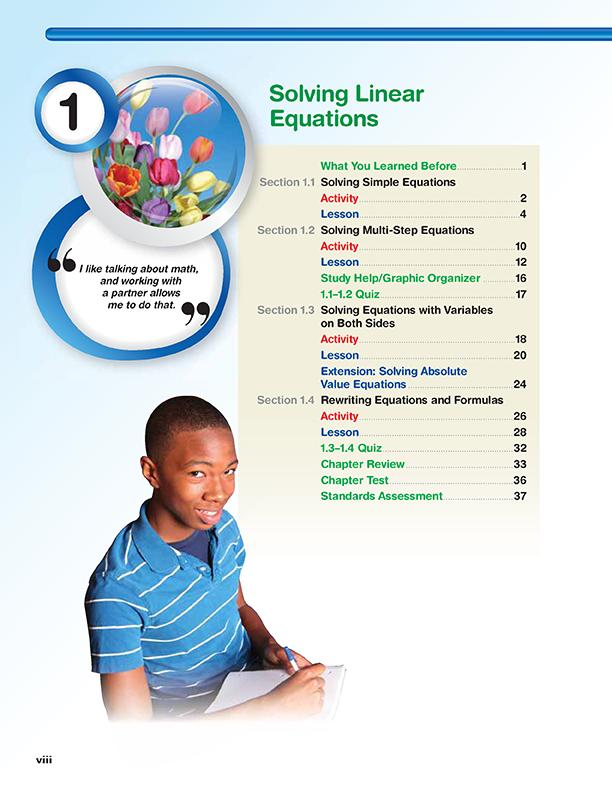 Big ideas math algebra 1 workbook