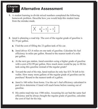 Big Ideas Learning Assessment Preparation